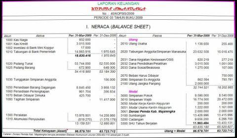 Contoh Laporan Keuangan Xls Download Modif 3